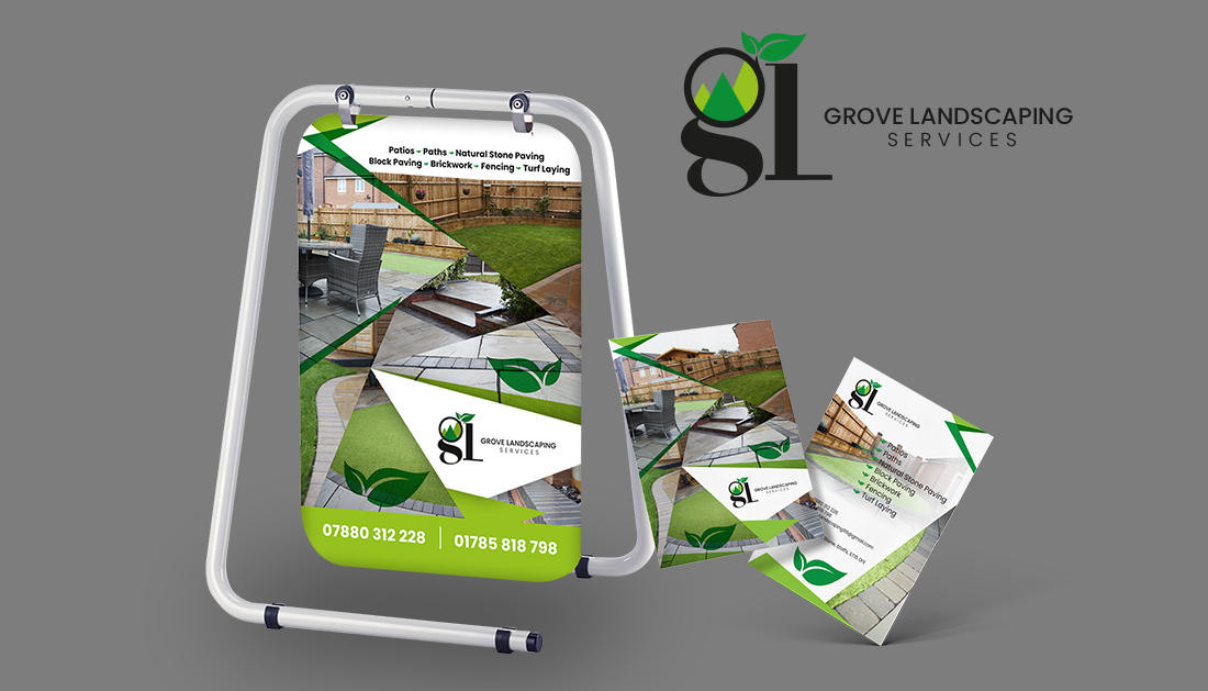 Branding and Marketing Materials for Grove Landscaping.