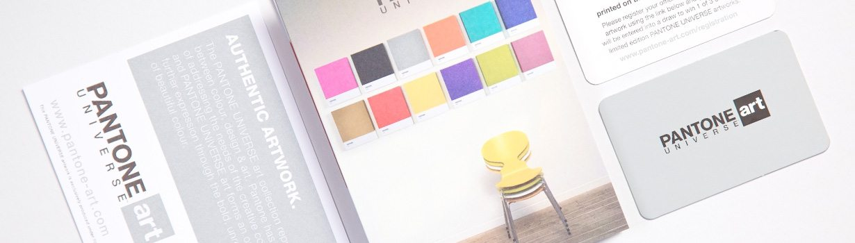 Suite of printed Pantone items