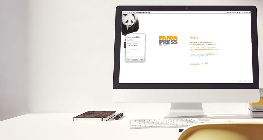 Upload your print-ready design files via WeTransfer