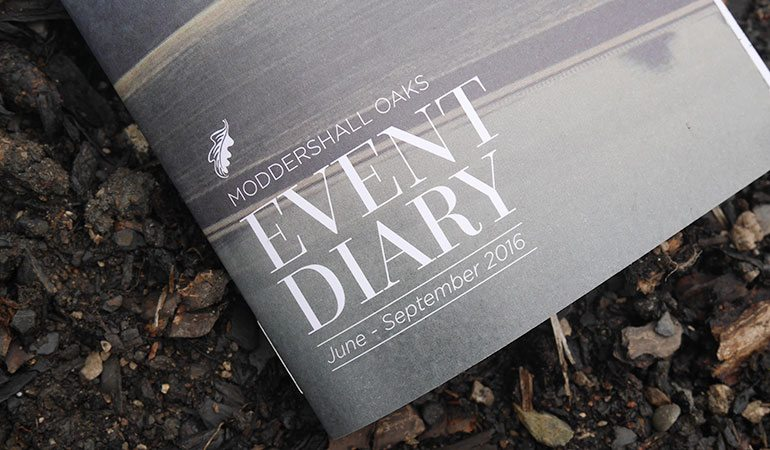 Uncoated litho-printed A6 events guide