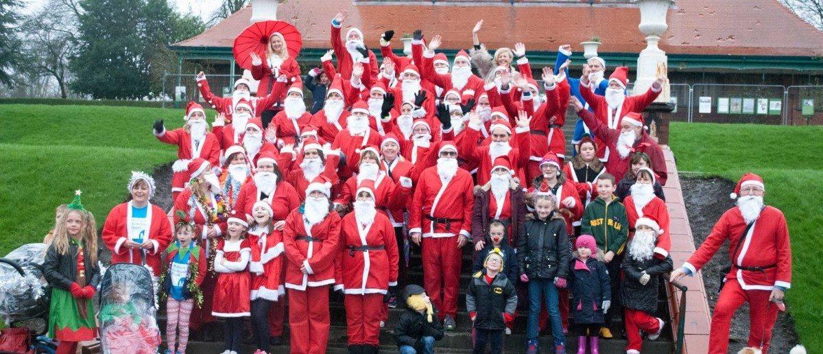 Last year's Alice charity Santa dash