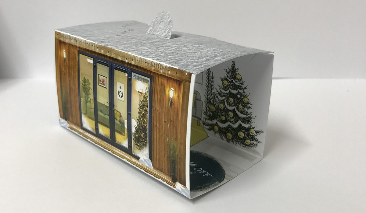 Bespoke printed 3D Mailer for Green Retreats