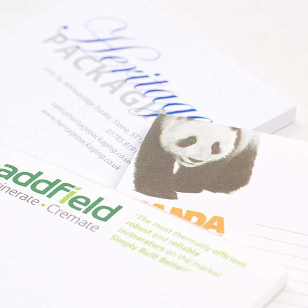 Bespoke printed notepads