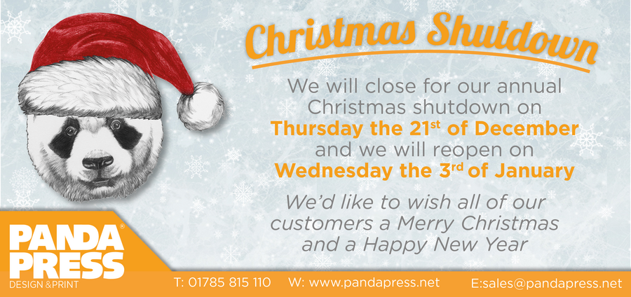 The Panda Press Christmas Opening Times