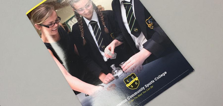 Staffordshire's Chesterton Community College printed prospectus
