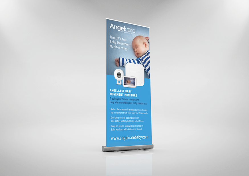 panda press roll up pull up banner 850mm wide 2000 tall